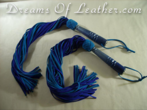 Leather floggers Twins